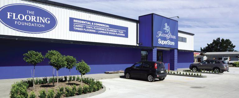 big new flooring store on flaxton road, rangiora